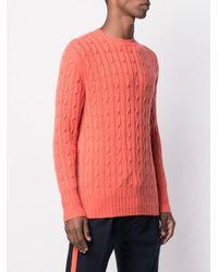 Maglione The Thames di N.Peal Cashmere in Pink da Uomo