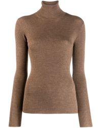 P.A.R.O.S.H. Brown Gerippter Pullover