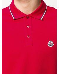メンズ Moncler ロゴ ポロシャツ Red