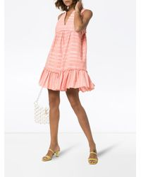 Robe courte Tatyu Lemlem en coloris Pink