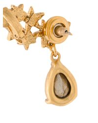Oscar de la Renta - Red Star Crystal Earrings - Lyst