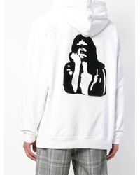 Calvin Klein White Modernist Graphic Hoodie for men