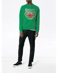 メンズ KENZO Tiger スウェットシャツ Green