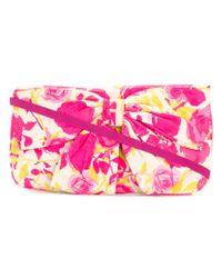 Lulu Guinness - Pink Bow Embellished Clutch Bag - Lyst