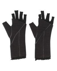 Thom Krom Black Fingerless Gloves for men