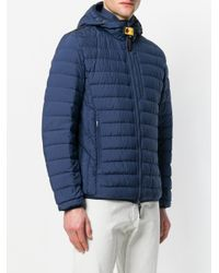 Parajumpers - Blue Hooded Padded Jacket for Men - Lyst