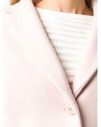 Miu Miu Pink Mink Fur Collar Midi Coat