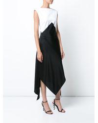 TOME - Black Colour Block Dress - Lyst