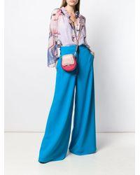 Blouse imprimée à col froncé Emilio Pucci en coloris Blue