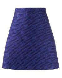 Jupe courte à motif monogrammé Gucci en coloris Purple