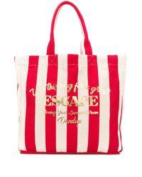 Grand sac cabas à rayures Escape Dondup en coloris Red