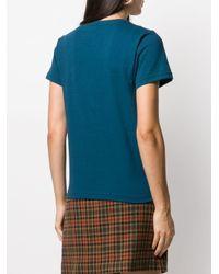 Camiseta con logo y batido A.P.C. de color Blue