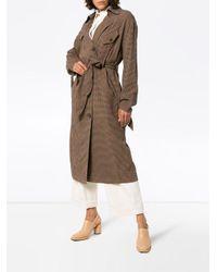 Nanushka Brown Trenchcoat mit Gürtel