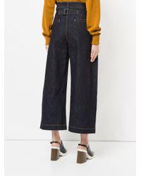 Studio Nicholson Blue Wide Leg Cropped Jeans