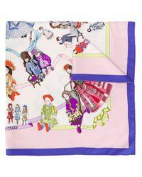 Платок Hello Dolly 1990-х Годов Pre-owned Hermès, цвет: Multicolor
