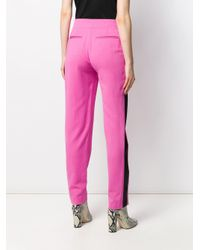 MSGM サイドストライプ パンツ Pink