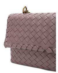 Bottega Veneta Purple Glicine Intrecciato Nappa Baby Olimpia Bag