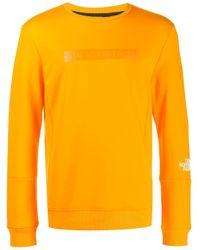 メンズ The North Face ロゴ スウェットシャツ Yellow