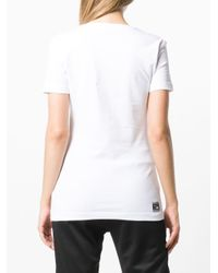 Versace Jeans White Logo Patch T-shirt