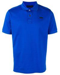 Polo con logo di Prada in Blue da Uomo