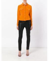 Balmain Orange Chest Pocket Button-up Shirt