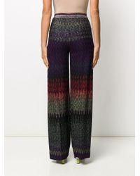 Pantalon ample à broderies Missoni en coloris Purple