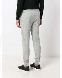 Moncler Gray Slim Fit Track Pants for men