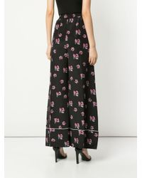 Racil Black Hose mit Blumen-Print