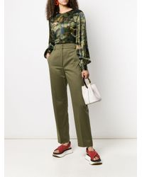 Pantaloni a vita alta di Marni in Green