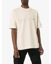 メンズ Y-3 ロゴ Tシャツ Natural