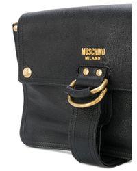 Moschino Black D-ring Satchel Bag