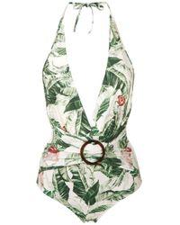 Printed Swimsuit Adriana Degreas, цвет: Green