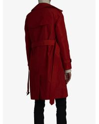 Burberry - Red Detachable Hood Tafetta Trench Coat - Lyst