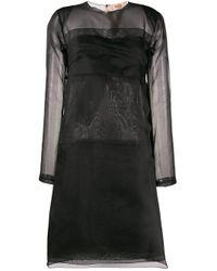 Robe courte à design superposé N°21 en coloris Black