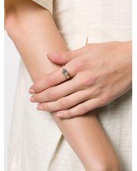 Rosa Maria Metallic Embellished Ring