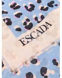 ESCADA レオパード スカーフ Blue