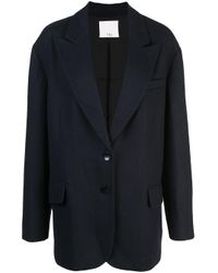 Tibi Blue Felted Liam Tuxedo Jacket
