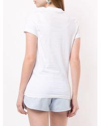 Markus Lupfer Kate Leopard Foil Tシャツ White