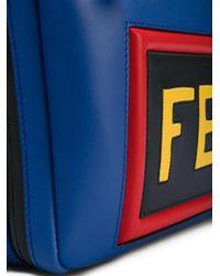 Sac porté épaule à patch logo Fendi pour homme en coloris Blue