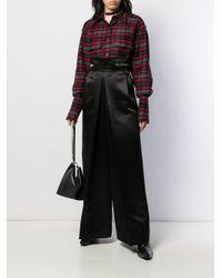 Yang Li プリーツディテール パンツ Black