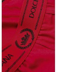 メンズ Dolce & Gabbana ロゴ ボクサーパンツ Red