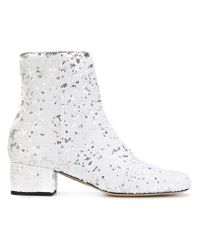 Chiara Ferragni White Candy Street Boots