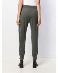 Pantalon de jogging en maille Brunello Cucinelli en coloris Gray