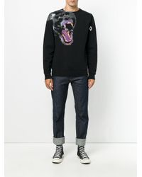Marcelo Burlon Black Teukenk Sweatshirt for men