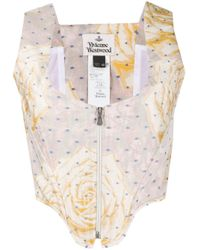 Vivienne Westwood Cage クロップドトップ Yellow