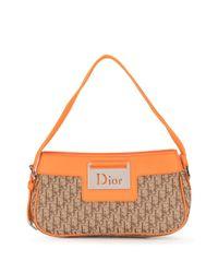 Dior プレオウンド ストリートシック トロッター ショルダーバッグ Brown