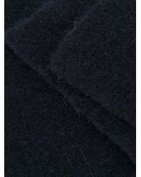 Roberto Collina Blue Classic Long Scarf for men