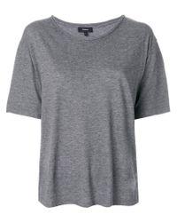 Theory - Gray Oversized T-shirt - Lyst