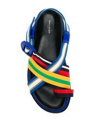 Maison Margiela Blue Colour-block Sandals