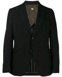 Blazer en maille fine Maurizio Miri pour homme en coloris Black